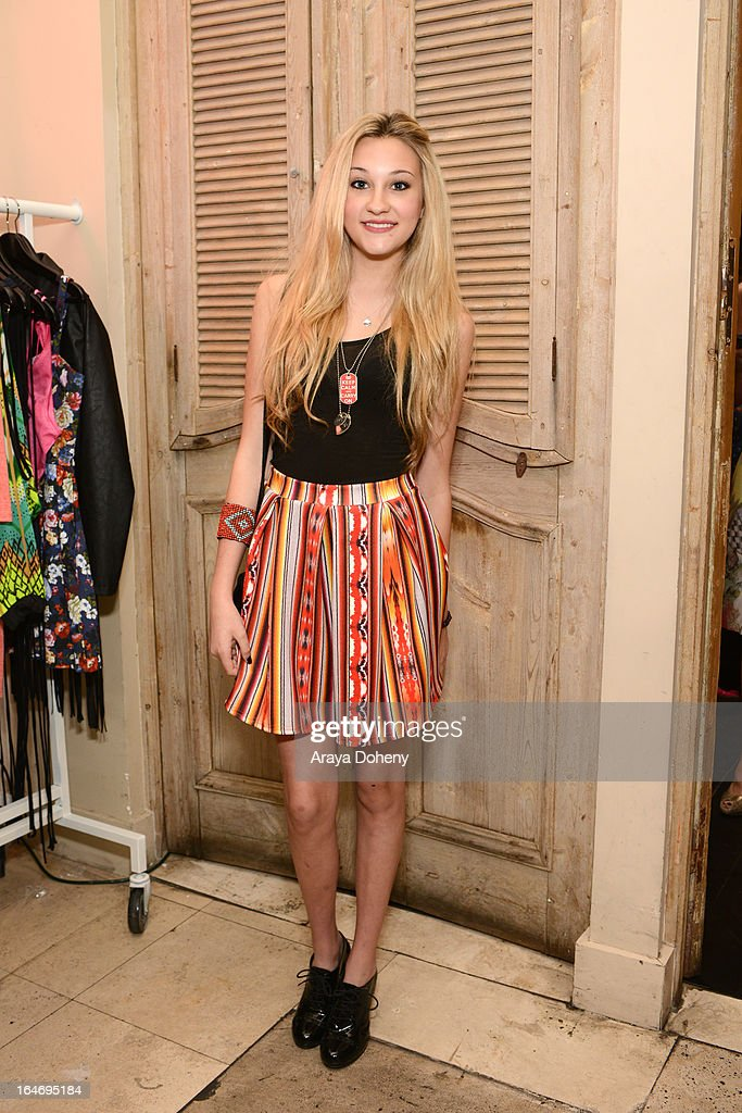 Kelly Crook attends Boohoo's Summer 2013 Press Day at SUR Lounge on March 26, 2013 in Los Angeles, California.