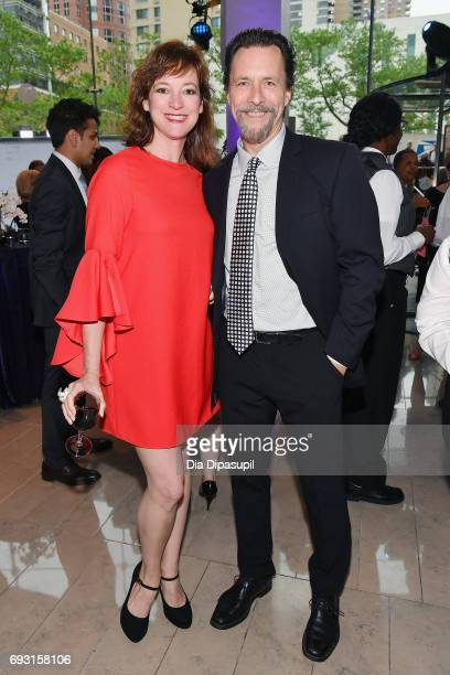Kelly d'Amboise and Christopher d'Amboise attend Lincoln Center Hall Of Fame Gala at the Alice Tully Hall on June 6 2017 in New York City