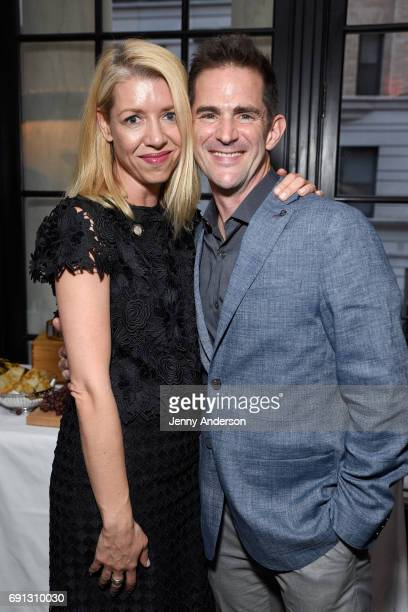 Kelly Devine and Andy Blankenbuehler attend Designed To Celebrate A Toast To The 2017 Tony Awards Creative Arts Nominees at The Lamb's Club at the...