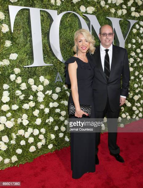 Kelly Devine and director Christopher Ashley attend the 2017 Tony Awards at Radio City Music Hall on June 11 2017 in New York City