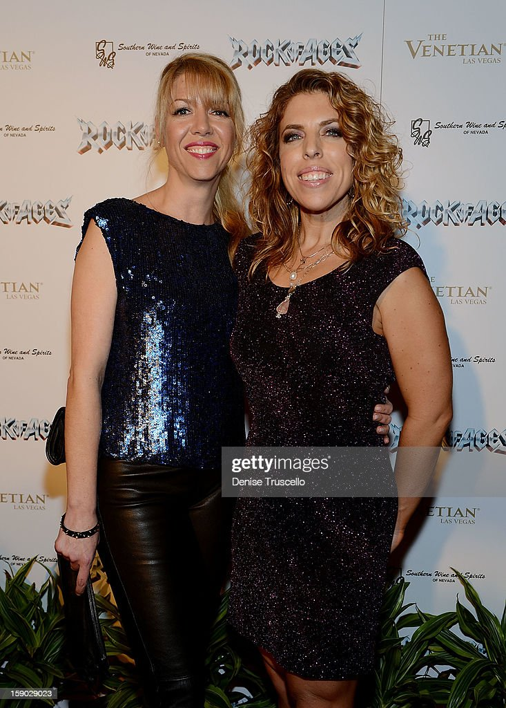 Kelly Devine and Kristin Hanggi arrives at the Rock Of Ages opening after party at The Venetian on January 5, 2013 in Las Vegas, Nevada.