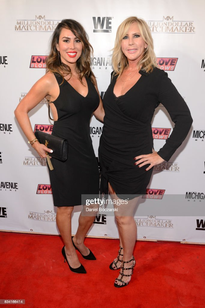 Kelly Dodd and Vicki Gunvalson attend WE tv's LOVE BLOWS Premiere Event at Flamingo Rum Club at Flamingo Rum Club on August 16, 2017 in Chicago, Illinois.