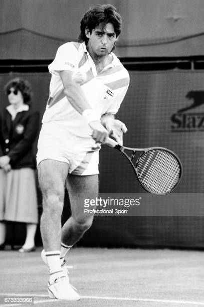 Kelly Evernden of New Zealand in action during the Wimbledon Championships held at the All England Lawn Tennis and Croquet Club in Wimbledon London...