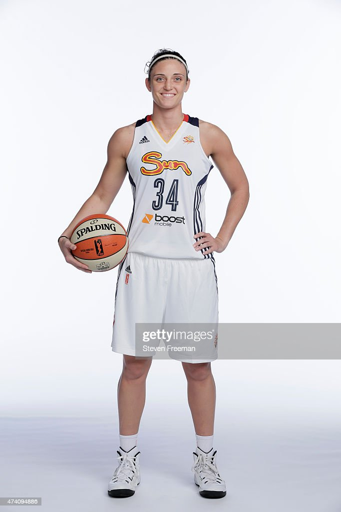 Kelly Faris of the Connecticut Sun poses for portraits at WNBA Media Day Mohegan Sun on May 19 2015 in New York New York NOTE TO USER User expressly...