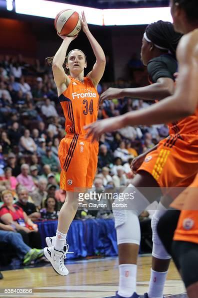 Kelly Faris of the Connecticut Sun shoots during the Atlanta Dream Vs Connecticut Sun WNBA regular season game at Mohegan Sun Arena on June 3 2016 in...