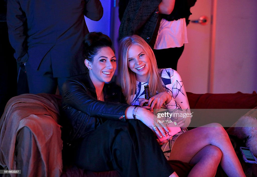 Kelly Forstmann and Arielle Yuspeh attend the Budweiser Black Crown Launch Party at gibson/baldwin showroom on February 13, 2013 in Los Angeles, California.