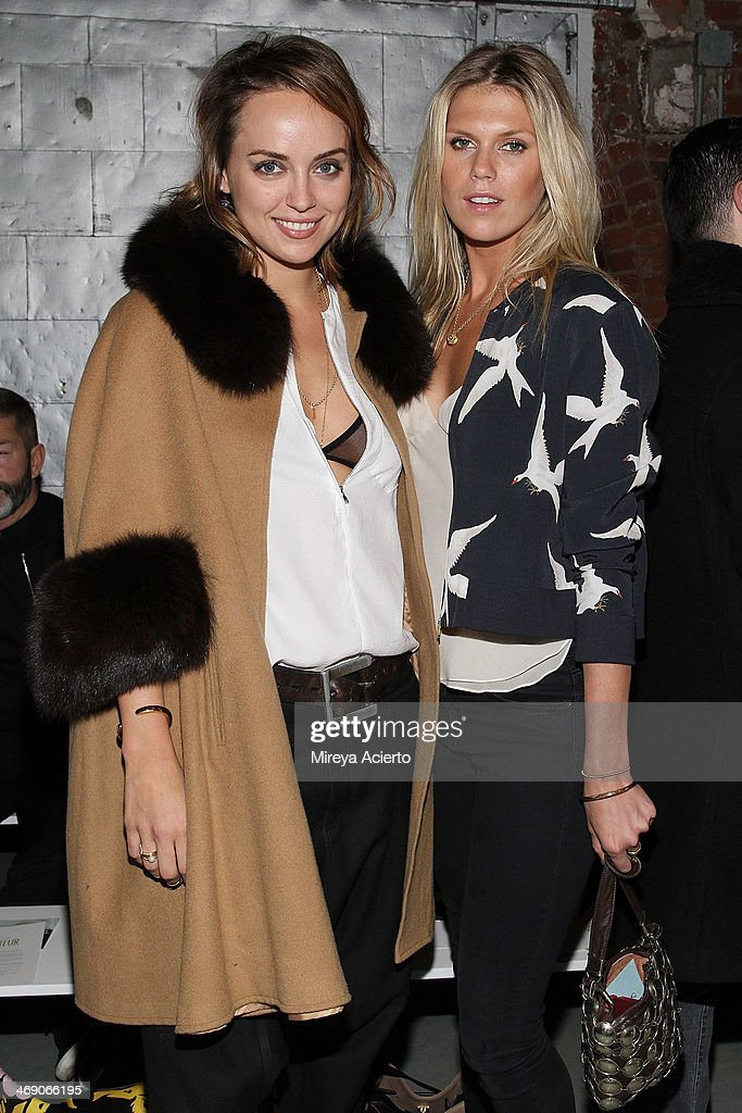 Kelly Framel and <a gi-track='captionPersonalityLinkClicked' href=/galleries/search?phrase=Alexandra+Richards&family=editorial&specificpeople=213455 ng-click='$event.stopPropagation()'>Alexandra Richards</a> attend the Sass & Bide fashion show during Mercedes-Benz Fashion Week Fall 2014 at The Waterfront on February 12, 2014 in New York City.