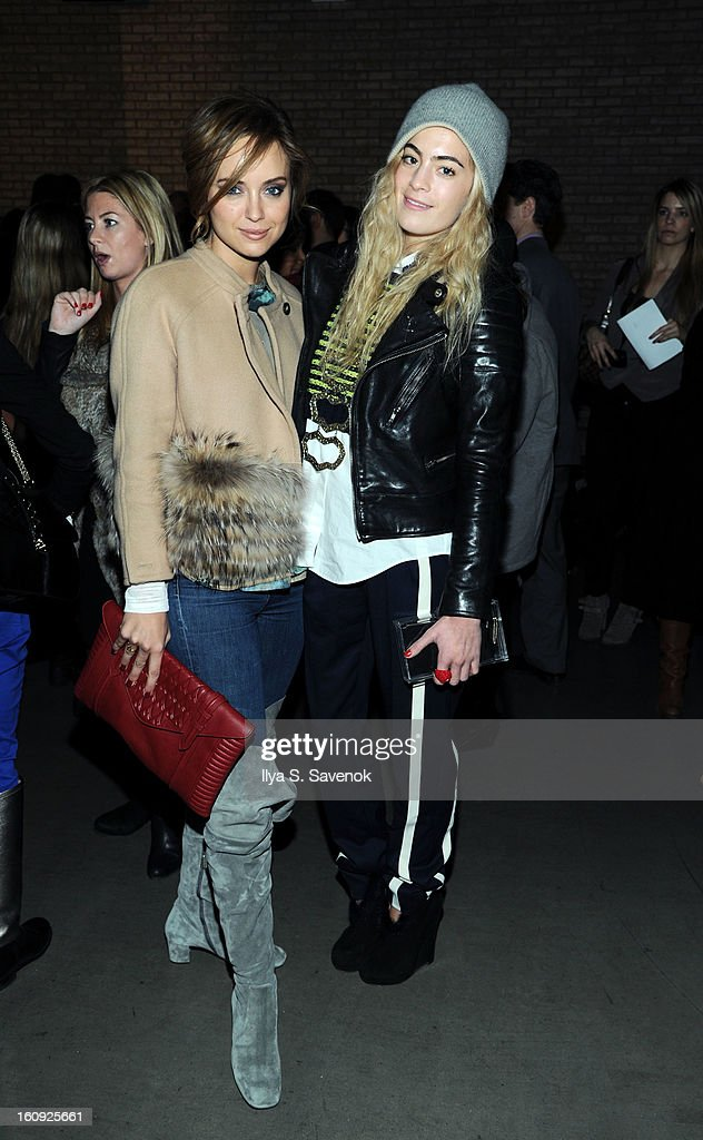 Kelly Framel and Chelsea Leyland attend the La Perla fall 2013 presentation during Mercedes-Benz Fashion Week at The Gallery at The Dream Downtown Hotel on February 7, 2013 in New York City.