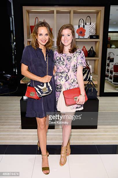 Kelly Framel and Erin Framel attend Furla X The Glamourai at Bloomingdale's on June 19 2014 in Short Hills New Jersey