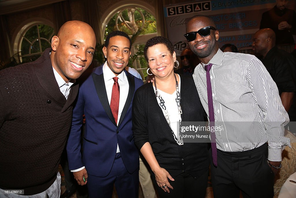 Kelly G, Christopher 'Ludacris' Bridges, Debra Lee and <a gi-track='captionPersonalityLinkClicked' href=/galleries/search?phrase=Bryan-Michael+Cox&family=editorial&specificpeople=4147651 ng-click='$event.stopPropagation()'>Bryan-Michael Cox</a> attend The 9th Annual <a gi-track='captionPersonalityLinkClicked' href=/galleries/search?phrase=Bryan-Michael+Cox&family=editorial&specificpeople=4147651 ng-click='$event.stopPropagation()'>Bryan-Michael Cox</a>/SESAC Brunch Honoring Ludacris at Four Seasons Hotel Los Angeles at Beverly Hills on February 10, 2013 in Beverly Hills, California.