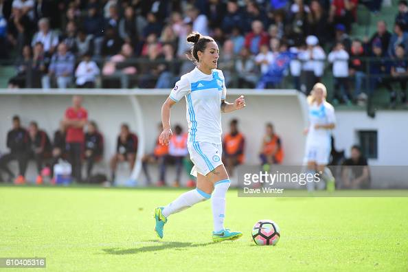 Kelly Gadea of Marseille during the women's French D1 league match between PSG and Olympique de Marseille at Camp des Loges on September 25 2016 in...
