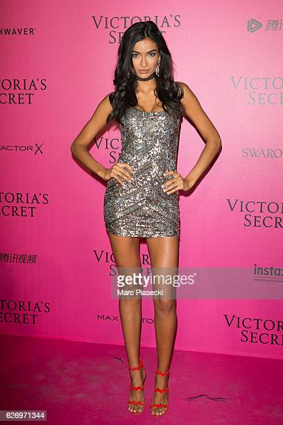 Kelly Gale attends '2016 Victoria's Secret Fashion Show' after show photocall at Le Grand Palais on November 30 2016 in Paris France
