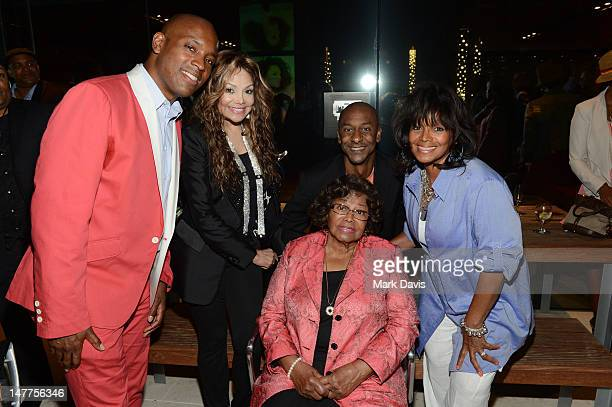 Kelly Griffin LaToya Jackson Stephen Hill Katherine Jackson and Rebbie Jackson pose at the 2012 BET Music Matters Showcase held at the Creative...