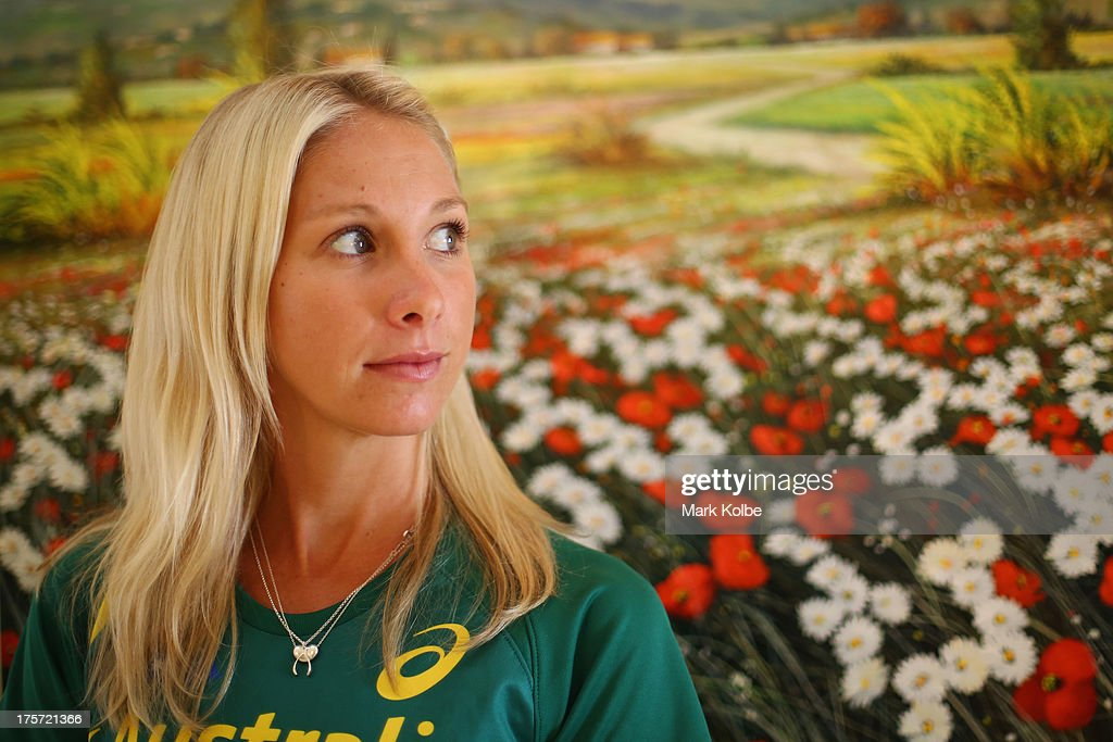 Kelly Hetherington of Australia poses during the Team Australia media day at Crown Plaza World Trade Centre on August 7, 2013 in Moscow, Russia.