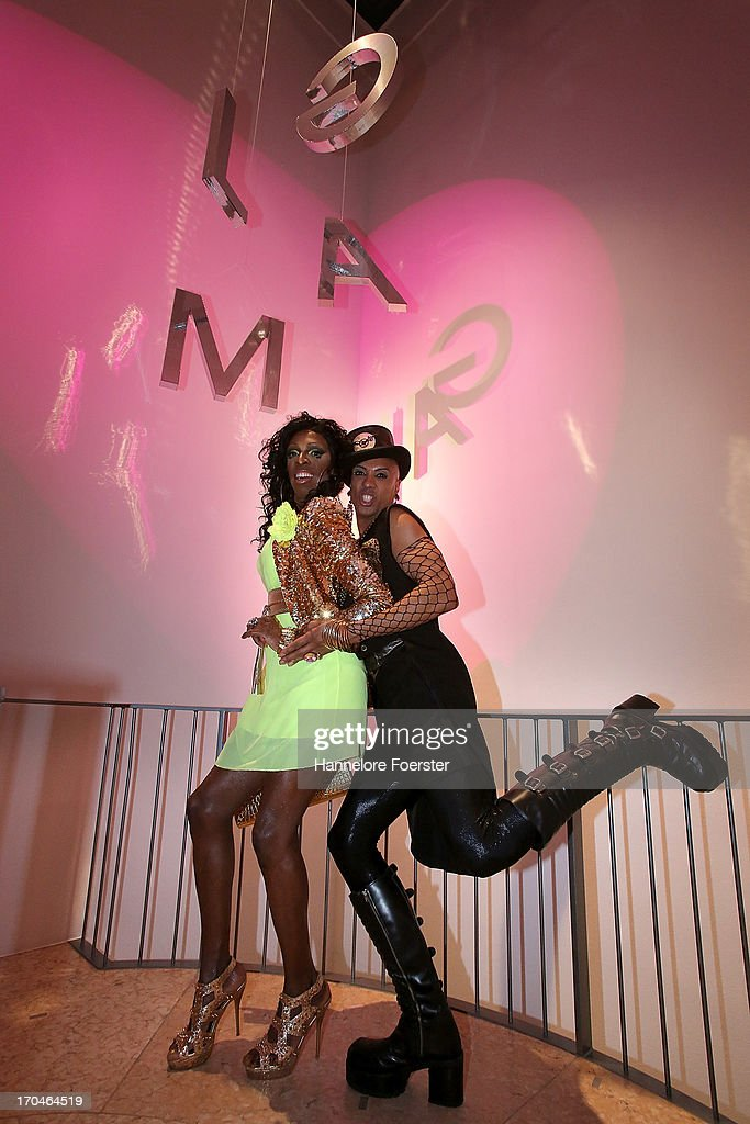 Kelly Hilton and Tyroon Vincent, during the opening of the ' Glam, the Performance of Style' Exhibition at Schirn Kunsthalle on June 13, 2013 in Frankfurt am Main, Germany.