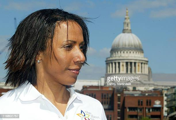 Kelly Holmes during The Blue Planet Run Photocall at Tate Modern in London Great Britain
