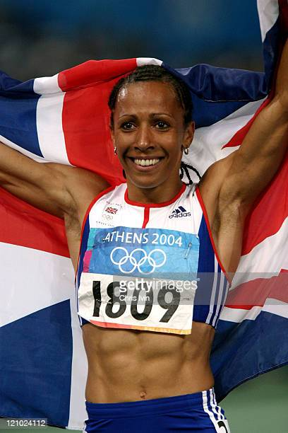 Kelly Holmes of Great Britain wins the Women's 800m in a time of 15638 during the Athens 2004 Olympic Games at the Olympic Stadium on August 23 2004