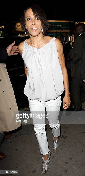 Kelly Holmes sighting in Leicester Square on October 8 2009 in London England