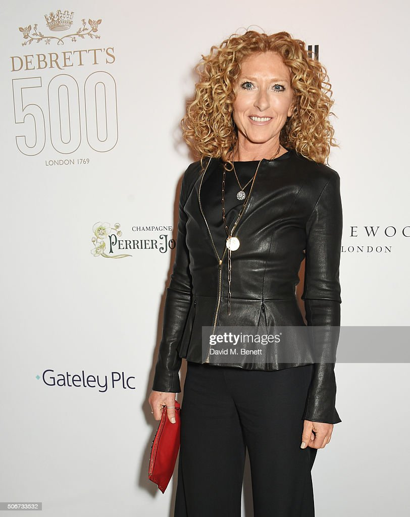 Kelly Hoppen attends Debrett's 500 party, hosted at Rosewood London, on January 25, 2016 in London, England. Debrett's 500 recognises the most influential people in Britain.