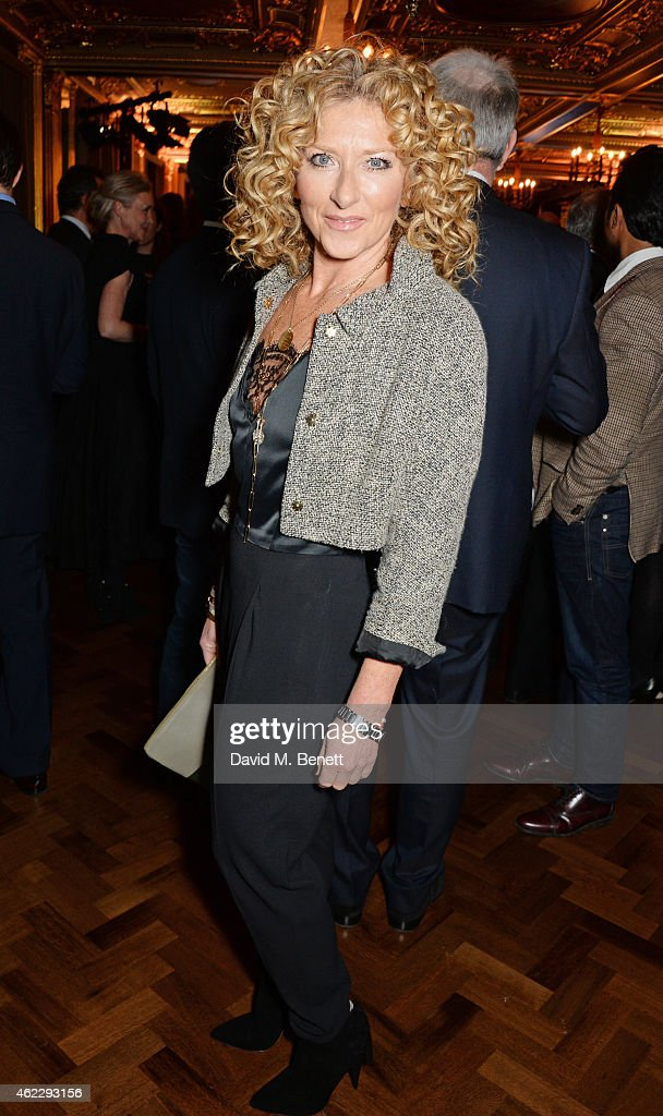 Kelly Hoppen attends Debrett's 500 party, hosted at The Club at Cafe Royal on January 26, 2015 in London, England. The Debrett's 500 recognise the most influential people in Britain, across 24 different categories, including Politics, Fashion and Music.