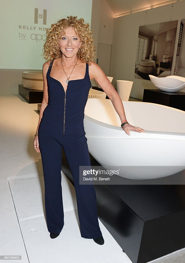 Kelly Hoppen attends the global unveiling of her new bathware collection with Apaiser at IRIS Studios on February 5, 2015 in London, England.
