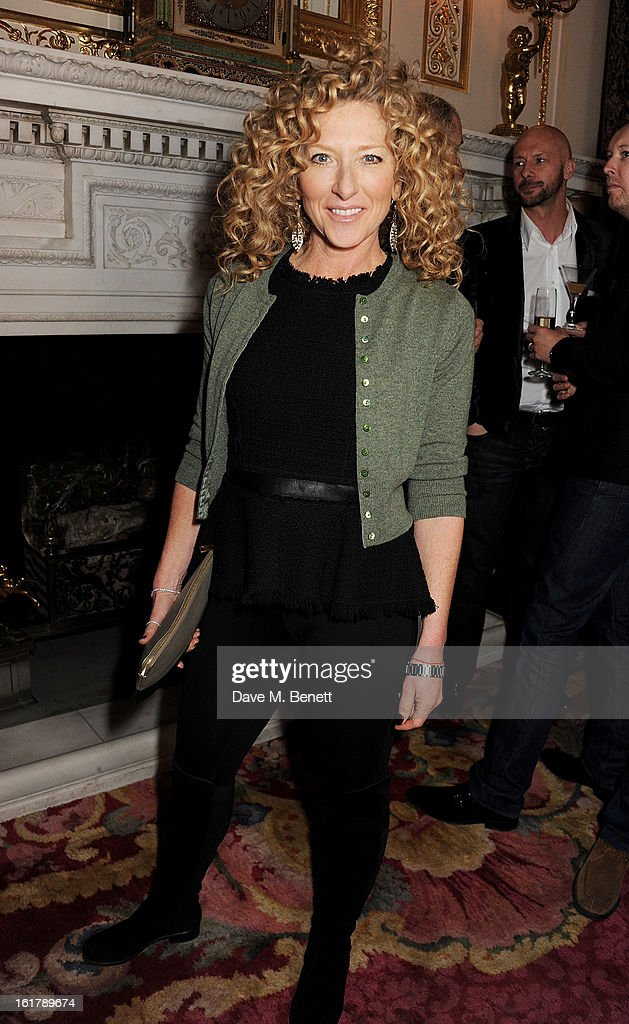 Kelly Hoppen attends the Julien Macdonald show during London Fashion Week Fall/Winter 2013/14 at Goldsmiths' Hall on February 16, 2013 in London, England.