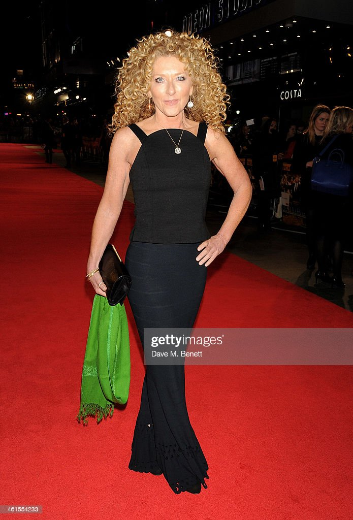 Kelly Hoppen attends the UK Premiere of 'The Wolf Of Wall Street' at Odeon Leicester Square on January 9, 2014 in London, England.