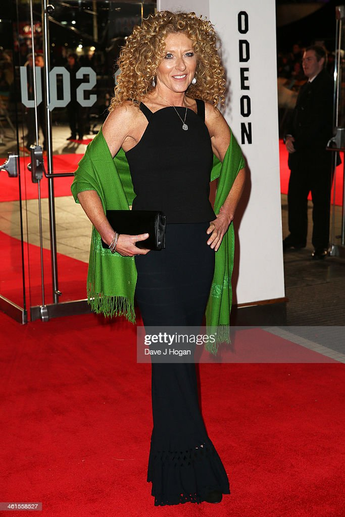 Kelly Hoppen attends the UK premiere of 'The Wolf Of Wall Street' at The Odeon Leicester Square on January 9, 2014 in London, England.