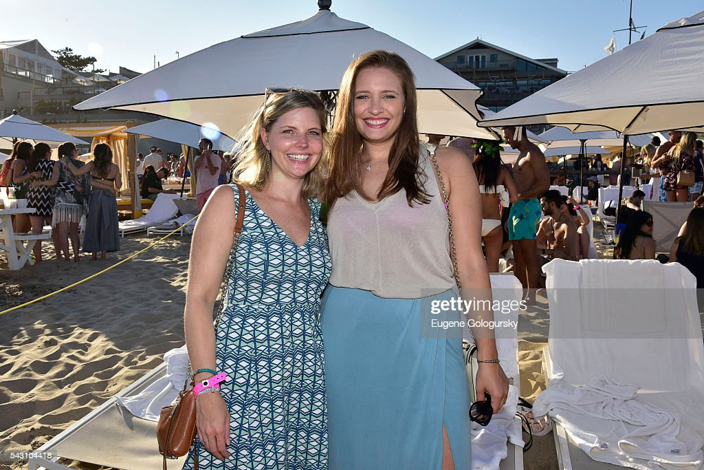 Kelly Howard and Sandra Parker attend the NYMag + San Pellegrino Beach Party at Gurney's Montauk Resort and Seawater Spa on June 25, 2016 in Montauk, New York.