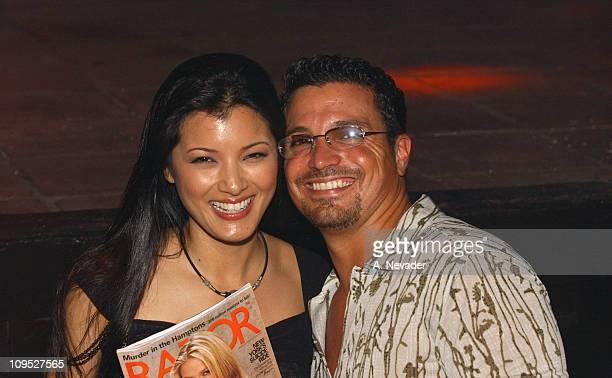 Kelly Hu and Razor Magazine Publisher Richard Botto