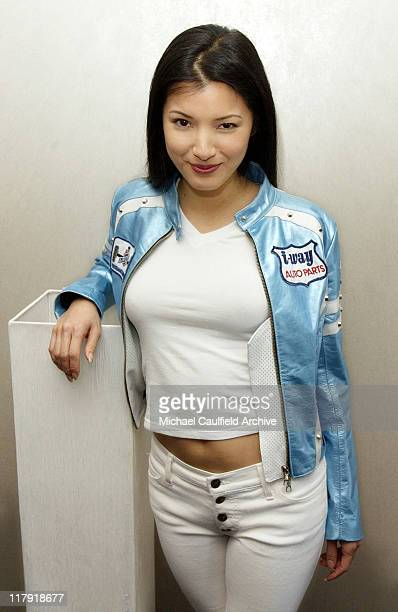 Kelly Hu at the Cadillac Super Bowl Grand Prix an exclusive highgear SuperKart race where celebrities take it to the track to battle it out for...