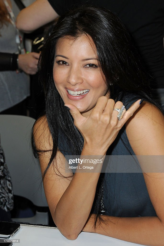 <a gi-track='captionPersonalityLinkClicked' href=/galleries/search?phrase=Kelly+Hu&family=editorial&specificpeople=202918 ng-click='$event.stopPropagation()'>Kelly Hu</a> attends Comic-Con International at San Diego Convention Center on July 19, 2013 in San Diego, California.