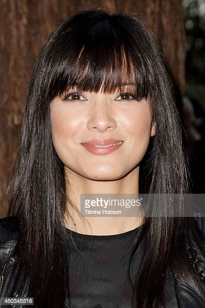 Kelly Hu attends the 'Rebuild' benefit concert for Typhoon Haiyan survivors at The Greek Theatre on June 8 2014 in Los Angeles California