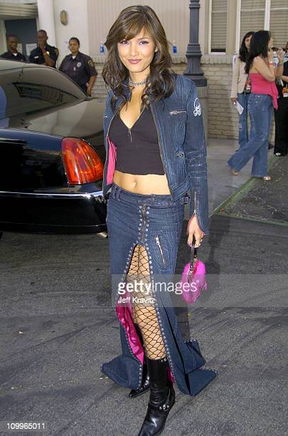 Kelly Hu during 2004 MTV Movie Awards Backstage and Audience at Sony Pictures Studios in Culver City California United States