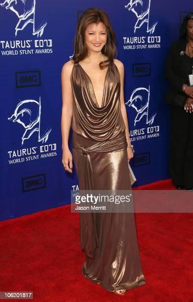 Kelly Hu during 2007 Taurus World Stunt Awards Arrivals at Paramount Studios in Los Angeles California United States