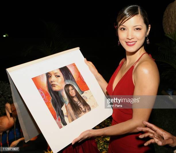 Kelly Hu during Best Buddies 9th Annual Miami Beach Gala 'Havana Nights' Arrivals at Star Island in Miami Beach Florida United States