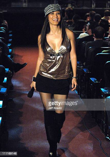 Kelly Hu during Comedy Central's Last Laugh '05 Show and Backstage at Orpheus Theater in Los Angeles California United States