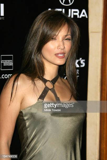 Kelly Hu during Gen Art and Acura Present 'The New Garde' Fashion Show Arrivals at Park Plaza Hotel in Los Angeles California United States