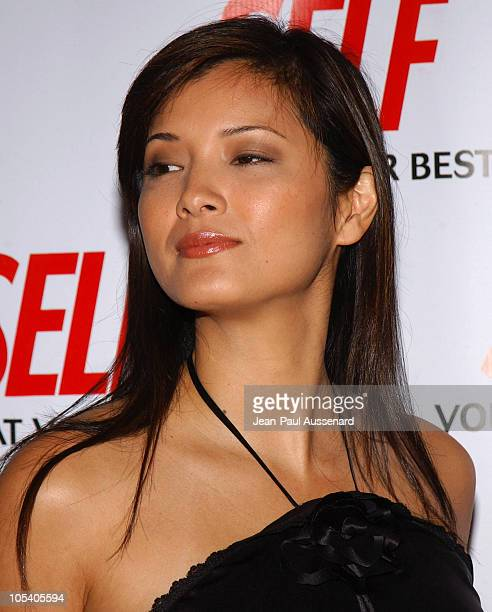 Kelly Hu during Hollywood Gets Healthy with Self Magazine Arrivals at Fred Segal Beauty in Santa Monica California United States