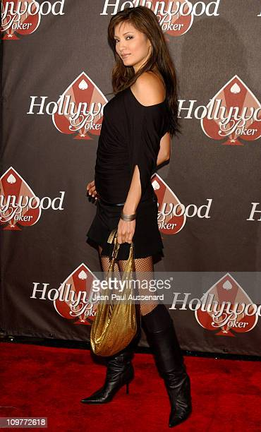 Kelly Hu during Hollywoodpokercom 1st Anniversary Party Arrivals at Montmartre Lounge in Hollywood California United States