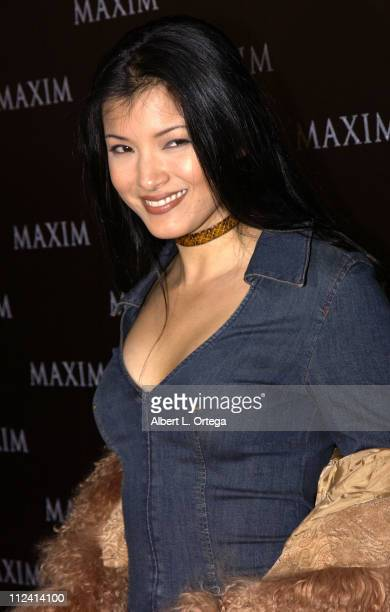 Kelly Hu during Live Performance by The Pussycat Dolls Hosted by Maxim Magazine Arrivals at The Henry Fonda Theater in Hollywood California United...