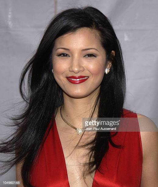 Kelly Hu during Los Angeles Opera's Placido Domingo Friends Concert Gala at Dorothy Chandler Pavilion in Los Angeles California United States
