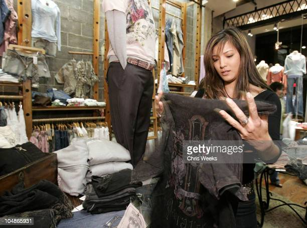 Kelly Hu during M Fredric Hosts Monarchy Launch Party at M Fredric in Studio City California United States