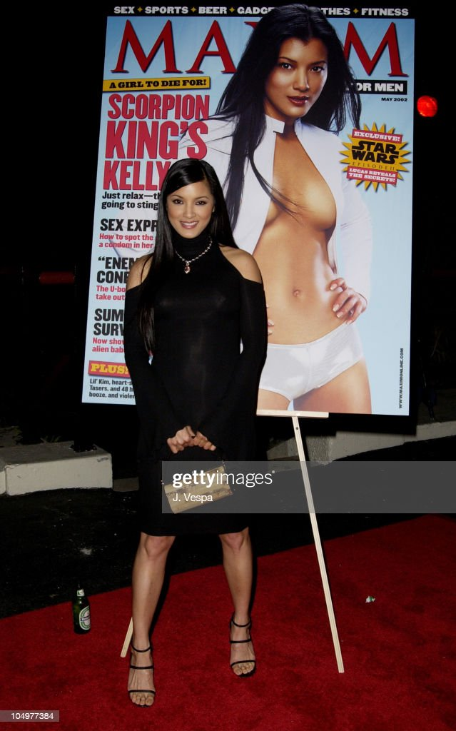 <a gi-track='captionPersonalityLinkClicked' href=/galleries/search?phrase=Kelly+Hu&family=editorial&specificpeople=202918 ng-click='$event.stopPropagation()'>Kelly Hu</a> during Maxim Hot 100 Party - Arrivals at Yamashiro in Hollywood, California, United States.