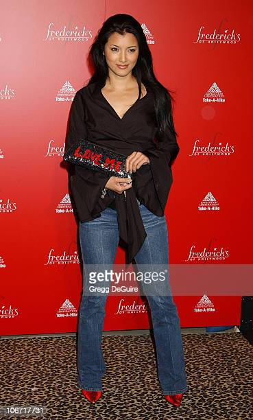 Kelly Hu during Smashbox Fashion Week Los Angeles Frederick's of Hollywood Fashion Show Fall 2003 Collection to benefit Expedition Inspiration...