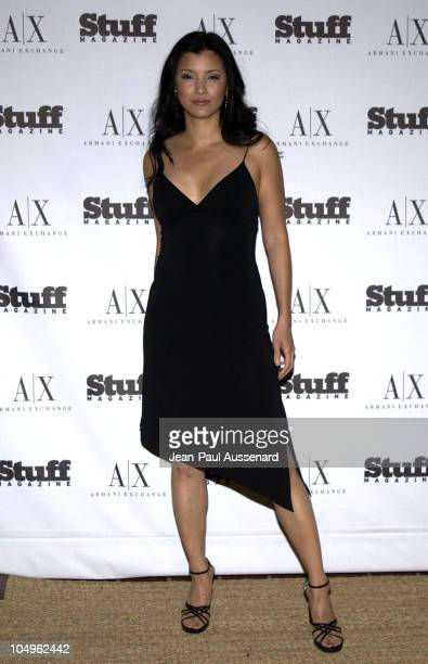 Kelly Hu during Stuff Magazine Armani Exchange 'Beachdance' Party Arrivals at Astra West in West Hollywood California United States