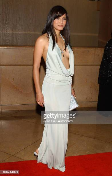 Kelly Hu during The 18th Annual Genesis Awards and 50th Anniversary of the Humane Society of the United States Arrivals at Beverly Hilton in Beverly...