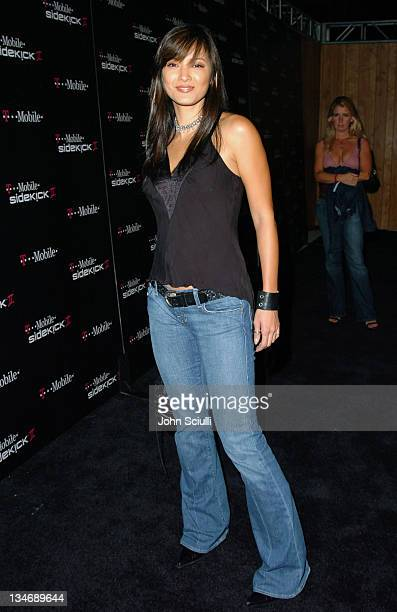 Kelly Hu during 'TMobile Sidekick II' Launch Party Red Carpet at The Grove in Los Angeles California United States