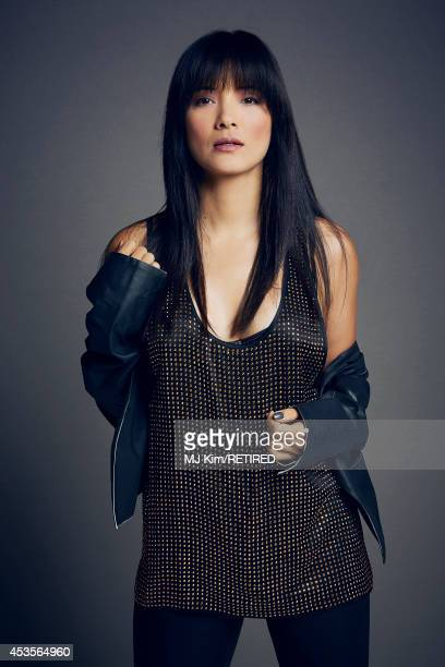 Kelly Hu poses for a portrait at the Getty Images Portrait Studio powered by Samsung Galaxy at ComicCon International 2014 on July 24 2014 in San...