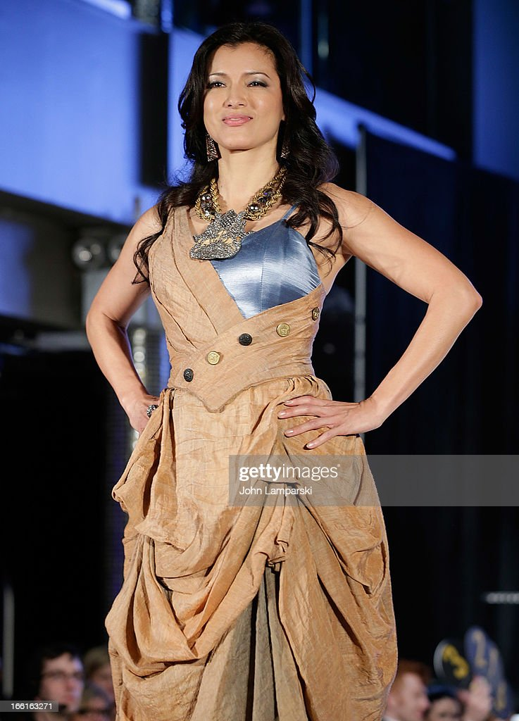 Kelly HU walks the runway at 2013 From Scotland With Love Charity Fashion Show>> at Stage 48 on April 8, 2013 in New York City.